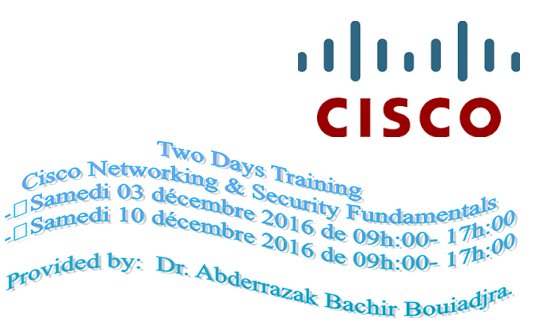 Journées de formation sur « Cisco Networking & Security Fundamentals »