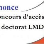 Concours d'Accès à la Formation Troisième Cycle (Doctorat LMD) 2017/2018