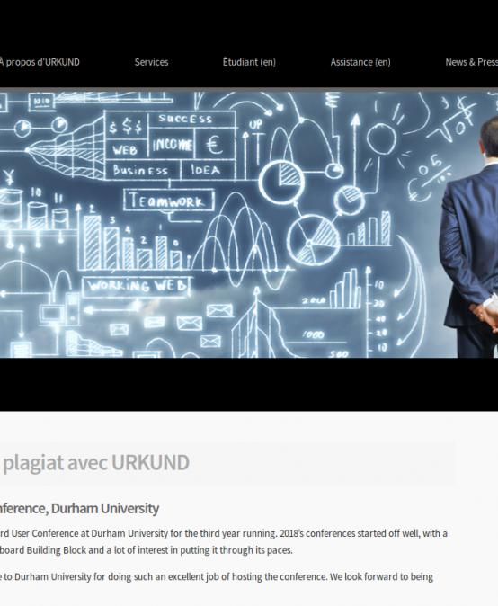 L'université vient de s'abonner au fameux logiciel de détection de plagiat URKUND