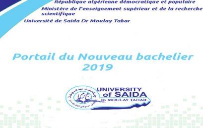 Portail du Nouveau bachelier 2019