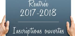 New: Annonce pour les ré-inscriptions 2017/2018