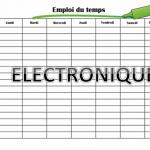 NEW:Annonce de l'emploie du temps Dpt-Electronique