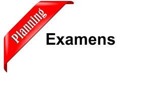 Les plannings des examens du semestre impair 18-19 relatifs aux départements de la  Faculté de Technologie