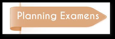 Planning des examens de tous les départements 2019/2020